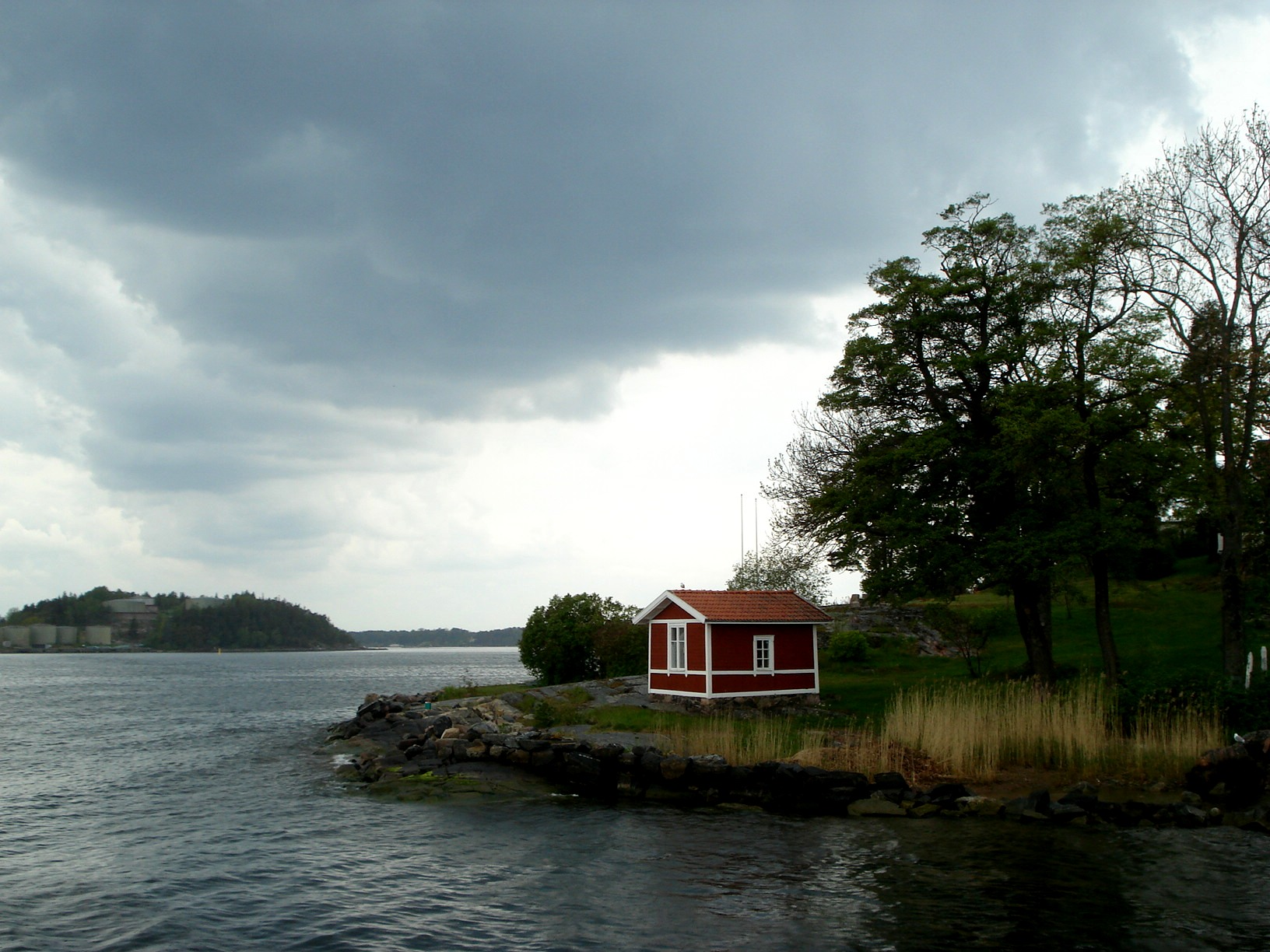 Cottage by a lake in sweden